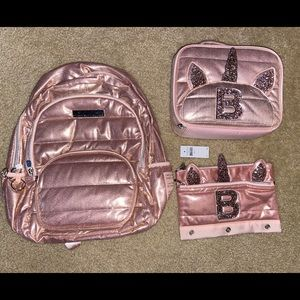 BNWT JUstice Backpack/ Lunchbox/Pencilcase